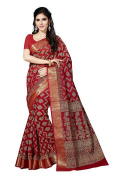 e179de4a3e0acc Rani Saahiba Women s Poly Cotton Printed Saree