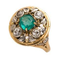 Oakes Emerald & Diamond Ring