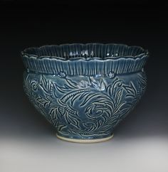Grace DePledge carved bowl.