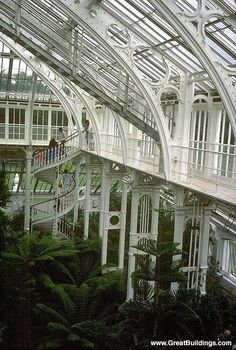 Temperate House, Kew Gardens, London. If this could be my house, I'd be happy!