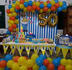 The Simpsons Theme, Simpsons Party, 11th Birthday, Happy Birthday, Birthday Party Decorations, Birthday Parties, Birthday Ideas, Happy Day, First Birthdays