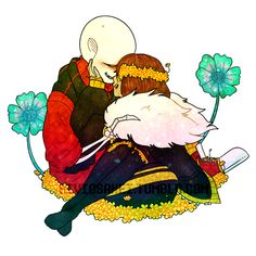 flowerfell sans and frisk