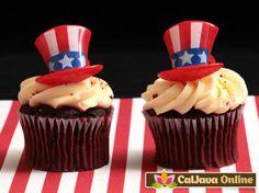 Uncle Sam Patriotic Hat Rings