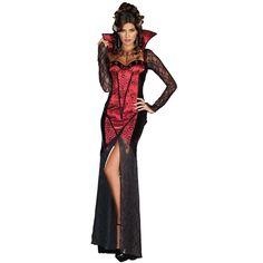 Vampire Female Adult Costume for Halloween.