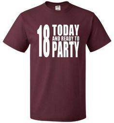 18th Birthday Shirt Funny Party Shirt for eighteens birthday