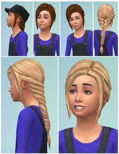 Girls Fishtail at Birksches Sims Blog via Sims 4 Updates