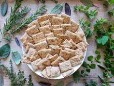 Herb Sourdough Crackers Recipe: How to Use Discarded Starter! ~ Homestead and Chill Sourdough Recipes, Sourdough Bread, Bread Recipes, Starter Recipes, Baking Recipes, Vegan Recipes, Healthy Crackers, Healthy Snacks, Healthy Eating