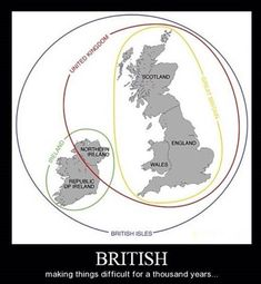 The British Isles, Explained.....the number of times I've had to explain this, I wish I'd had this pic!