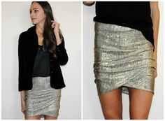 DIY Draped skirt by Trash to Couture