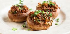 Seafood-Stuffed Mushroom Caps: A great appetizer to serve at your next dinner party