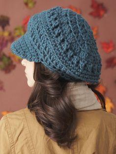 Slouchy Peaked Hat   Yarn   Free Knitting Patterns   Crochet Patterns   Yarnspirations