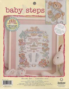 Welcome Baby Cross Stitch Sampler Kit by needlecraftsupershop