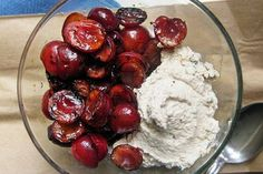 Grilled Cherries and Vanilla Bean Walnut Cream Vegan!