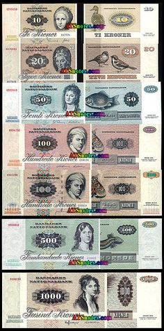 Denmark banknotes - Denmark paper money catalog and Danish currency history