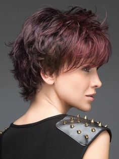Buying a perfect Wavy Auburn Short Best Synthetic Monofilament Wigs is hot sale here. Short Shag Hairstyles, Short Layered Haircuts, Cool Hairstyles, Layered Hairstyles, Bob Haircuts, Haircut Short, Medium Hairstyles, Hairdos, Short Hair With Layers