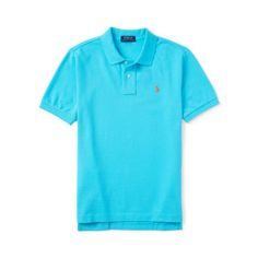 Polo by Ralph Lauren - SS Cotton Mesh Polo - Tropical Turquoise - $35.00 - sizes:  2T, 3T & 4T