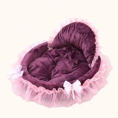 Princess Doggie Bed - Wine Red / S