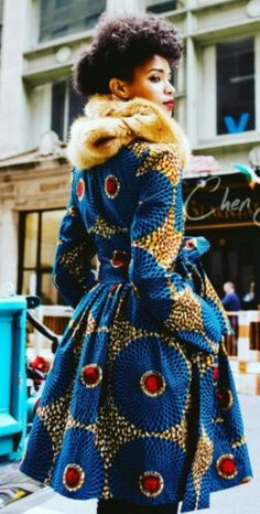 It's African Inspired Chen Burkett of New York African Fashion Ankara, African Inspired Fashion, African Print Dresses, African Print Fashion, Africa Fashion, African Dress, Fashion Prints, Fashion Design, African Prints