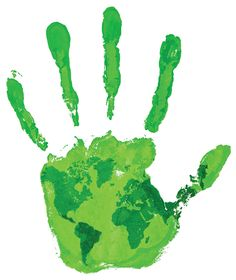Lime handprint. Don't forget about Earth Week this week! (Image Source: Lake Metro Parks)