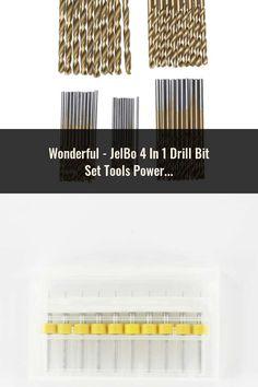 JelBo 4 In 1 Drill Bit Set Tools Power Tools Drill Bit HSS Countersink Drill Press Woodworking Tools with Wrench Drill Press, Drill Bit, Power Tools, Hand Tools, Woodworking Tools, Spiral, Plugs, Drill, Tools For Working Wood