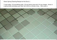 Cleaning tip -grout