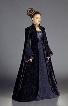 Padme Amidala in her 'loyalist' robe, worn while conversing with Senator Palpatine and the Jedi about the recent attempt on her life in Star Wars Episode II.