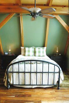 Timber Frame Home - Timber Frame Interior - Homestead Timber Frames - Crossville Tennessee