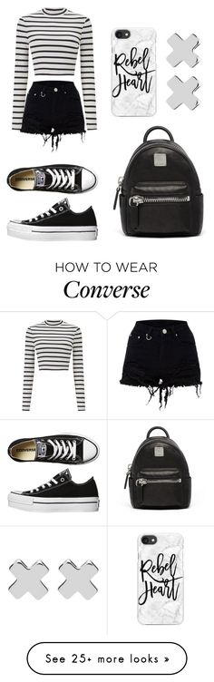 """Untitled #756"" by syshrn on Polyvore featuring Miss Selfridge, Converse, MCM, Casetify and Witchery"