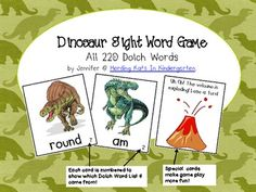 Dinosaur Sight Word Game (Dolch Word Lists 1-11) $