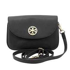 Women's Cross-Body Handbags - Tory Burch Robinson Crossbody Bag in Black * Details can be found by clicking on the image.
