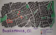 WEEK 1: Hi my name is Fabio. I drew a traced map from my city Bucaramanga in Colombia. It was founded by spanish colonizers following a grid pattern. The historic city center in red is not so big, because the city remained without importance until the country became a republic. The city grew in the last century with the same pattern and not real urban design. As we have reached our topographic limits, the city is becoming highly dense.