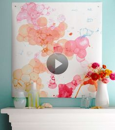 Give walls a splashy dose of color with easy watercolor artwork./