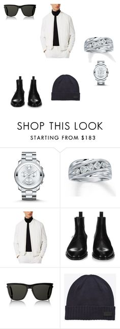 """""""Sharp"""" by quasia-taylor on Polyvore featuring Movado, Topman, Givenchy, Yves Saint Laurent, men's fashion and menswear"""