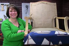 Learn how to upholster and pad your chairs deck with our newest video tutorial. #UpholsteryClass www.KimsUpholstery.com