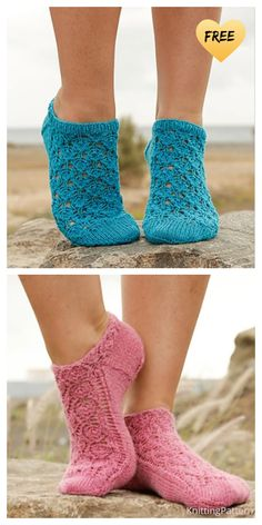 Lace Knitting Stitches, Lace Knitting Patterns, Knitting Blogs, Knitting Socks, Free Knitting, Crochet Pattern, Knitted Socks Free Pattern, Knit Socks, Lace Socks