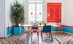 The 'cheap and cheerful' is rarely refined, but Valencia Lounge Hostel's revamped interiors strike the perfect balance between all three. The hostel's 11 neoclassical rooms and common areas were reimagined by local design studio Masquespacio in a palet...