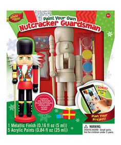 Look at this Paint Your Own Nutcracker Guardsman Set on #zulily today!