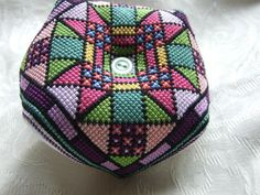 Stained glass biscornu by ZenXstitch - http://www.pinterest.com/pin/374291419002312747/