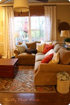 cozy living room...love the look and the feel of it