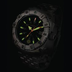 The Genuine U.S. Military Watch - Hammacher Schlemmer - This is the watch used by all branches of the U.S. military for its rugged design and unique 25-year illumination technology.
