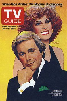 Richard Amsel's TV Guide Cover #18: Robert Wagner and Stephanie Powers, June 21, 1980
