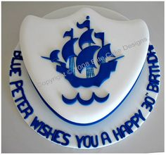 Blue Peter Cake, Corporate Cakes Sydney, Corporate Cake Gallery, Christmas Party Cakes, Company Anniversary Cakes, Farewell Party