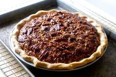 pecan pie with bourbon and golden syrup instead of corn for a more buttery caramel flavor----SmittenKitchen