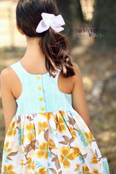 Lucy's Tunic & Dress. PDF sewing patterns for girls sizes 2t-12. - Simple Life Company