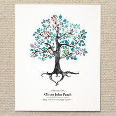 Rustic Woodland Tree Graphic Art Print - DIY Printable PDF Template - wedding, baby, shower, gift, custom, home, nursery, decor. $15.00, via Etsy.