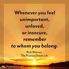 Rick Warren, The Purpose Driven Life