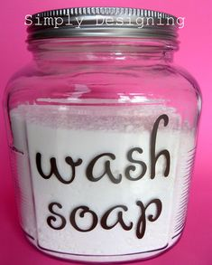 Make your own Laundry Detergent with this simple recipe by Simply Designing