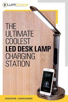 LumiCharge II- All in One LED Desk Lamp, Wireless Charger and Universal Phone Charger & Finance, Thing 1, Led Desk Lamp, Phone Charger, Lighting System, Home Office Decor, Things To Buy, Night Light, Floor Lamp