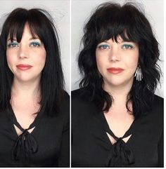 From longer and straight to wavy with layers. Organically and carefully carved into layers and then dried easily with a diffuser, salt… Short Hair With Layers, Short Hair Cuts, One Length Hair, Cabello Hair, Mullet Hairstyle, Hair Color And Cut, Hair Affair, Great Hair, Hair Dos