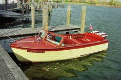 """This beautiful classic watercraft is currently available for ownership. That means it is FOR SALE. She's a 1957 Thompson Bros. (Peshtigo) 16'-7"""" Sea Lancer with twin 1957 Johnson 35 HP outboard motors. Motors both have fuel pumps and electric start. Boat, motors and dual axel trailer all for only $8,999"""
